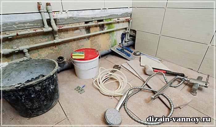 Ремонт ванной комнаты своими руками начало