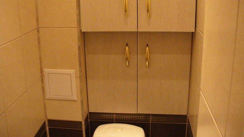 Спрятать трубы в туалете своими руками 86