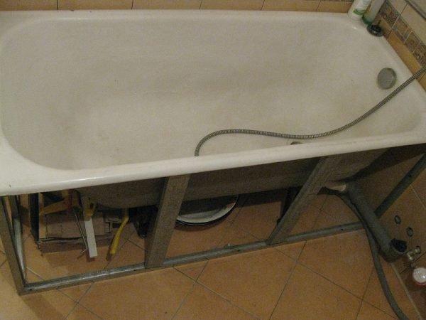 Укрепление акриловой ванны своими руками 38