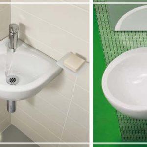 Кутова раковина для ванної – фото маленьких умивальників