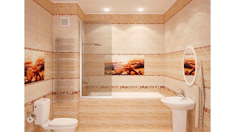 Керамическая плитка в дизайне ванной комнаты