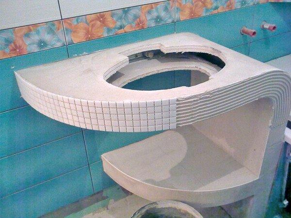 Столешница для ванны своими руками 12
