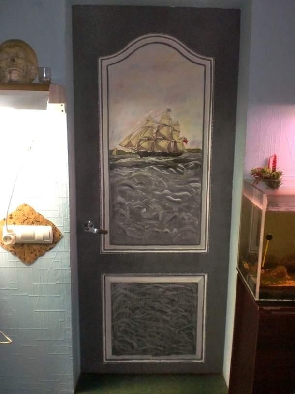 Декор старой двери своими