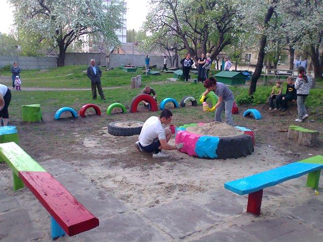 Детская школьная площадка своими руками