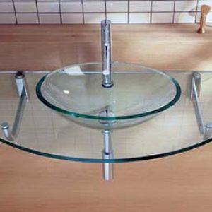 Скляні раковини для ванної кімнати: види та як правильно вибрати +фото