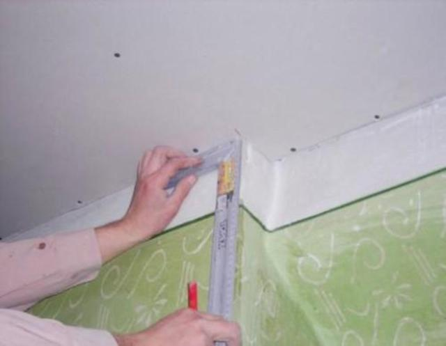 Как сделать разметку для подвесного потолка