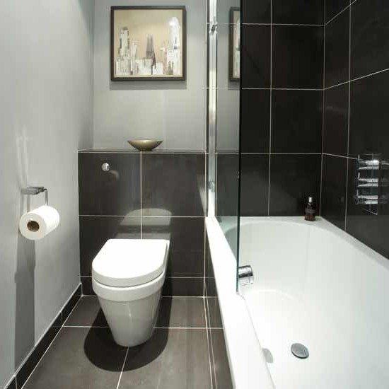 Дизайн черно-белой ванны хрущевка