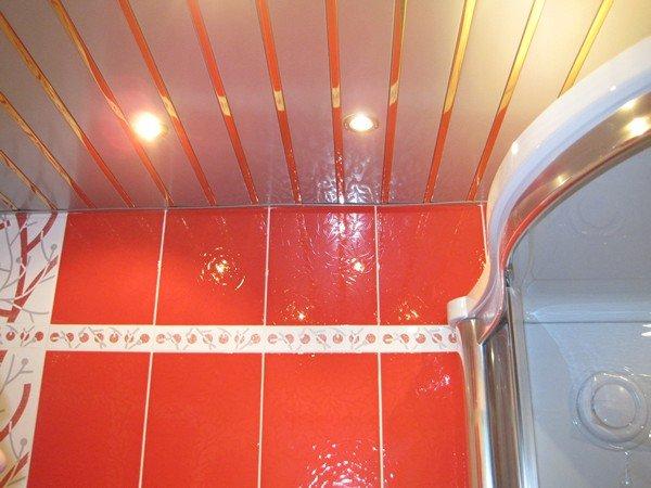 Навесной потолок в ванной и как его сделать 549