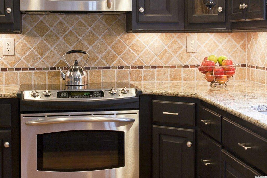 Как сделать фартук на кухню из плитки фото