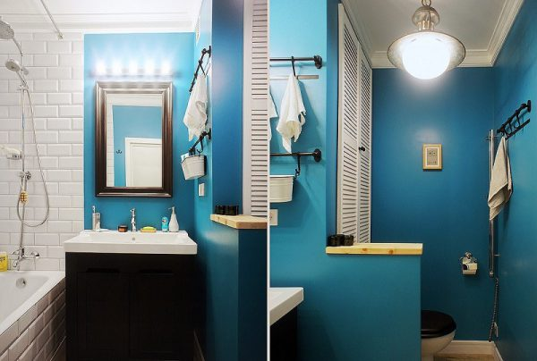 Ремонт ванной комнаты покраска стен
