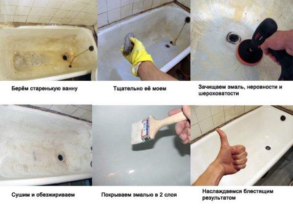Ремонт акриловых ванн в домашних условиях своими руками 98
