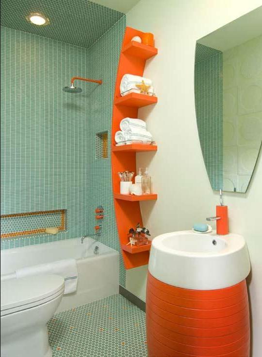 Дизайн для маленькой совмещенной ванной комнаты 180