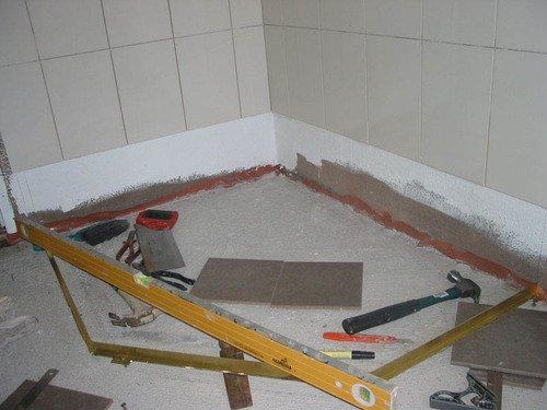 Стяжка своим руками в ванной 894