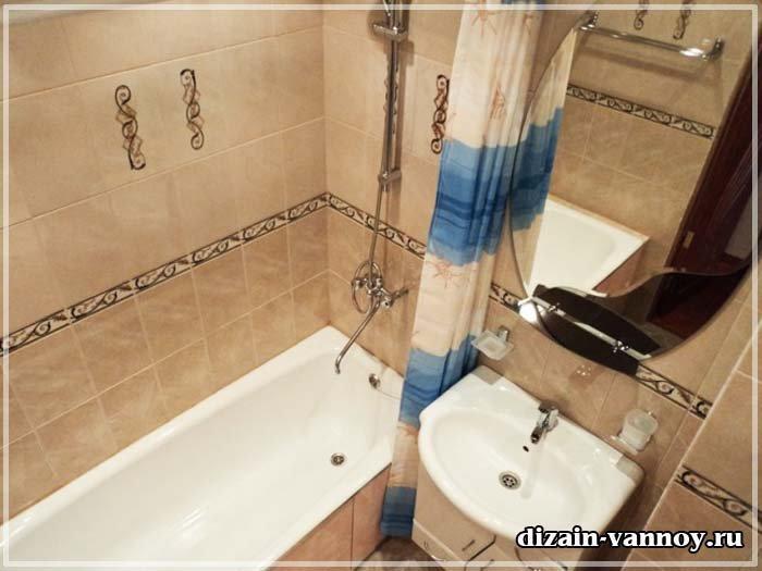 Ремонт ванной в панельном доме своими руками 45