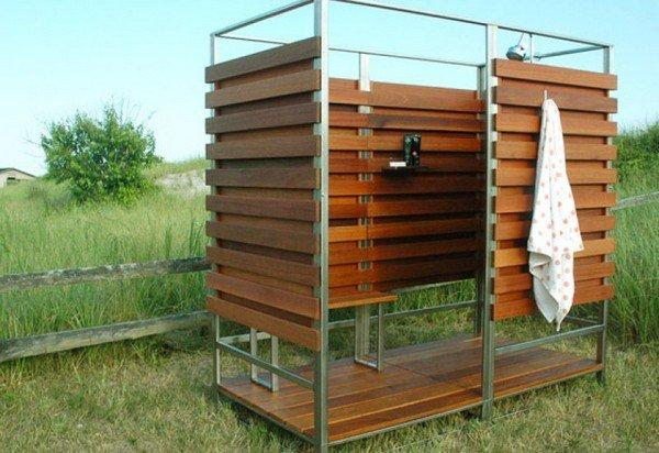 Летний душ на даче своими руками из  71