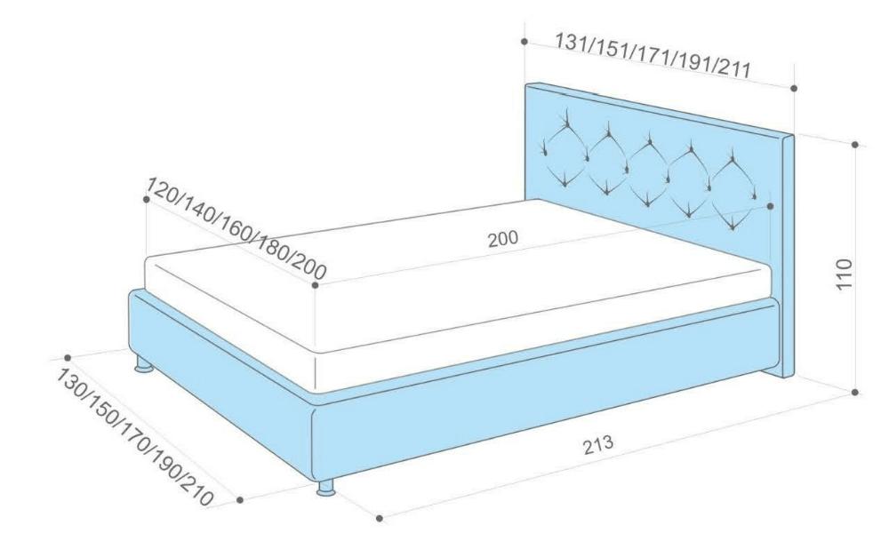 Кровать своими руками размеры