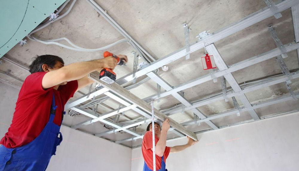 Ремонт электрики натяжного потолка