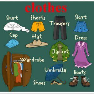 Одяг на англійській мові для дітей – тема уроку clothes
