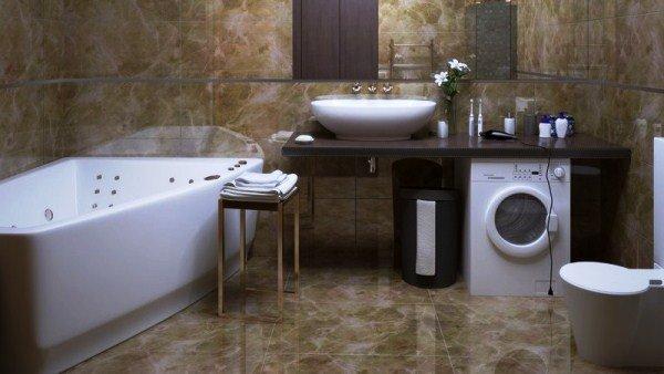 умивальники із колонами у ванную фото