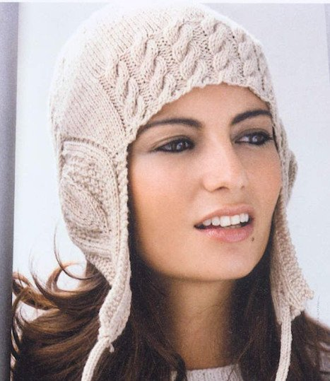 В язана шапка жіноча спицями схема і опис  1b6b74ce72e00