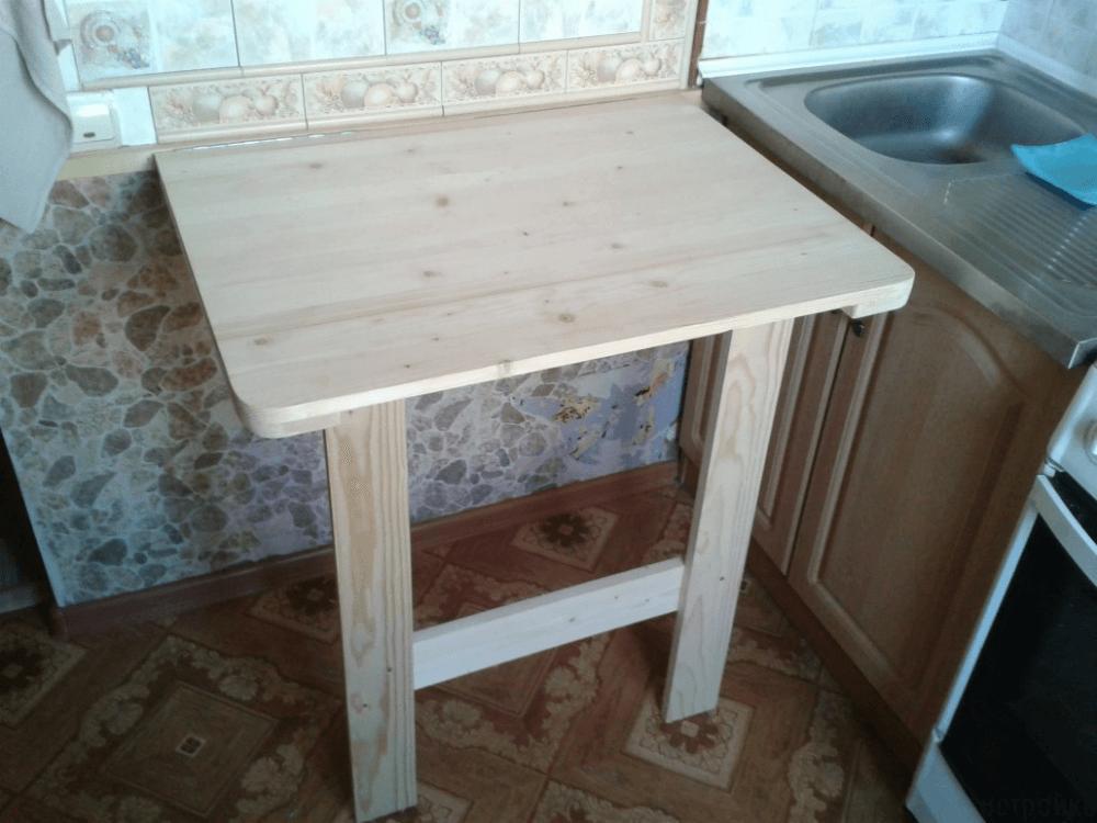 Кухонный стол трансформер для маленькой кухни фото своими руками