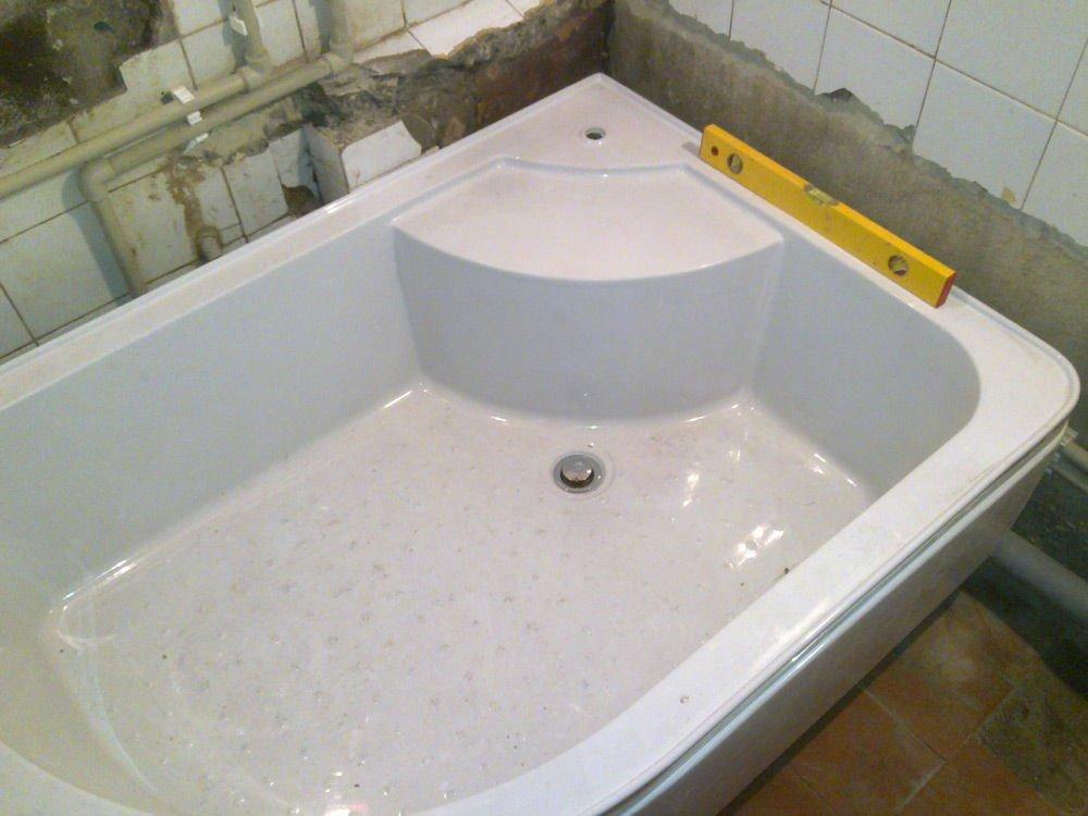Ванна низкая как сделать