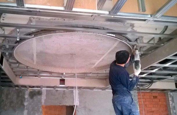 Как сделать гипсокартонные потолки своими руками 100