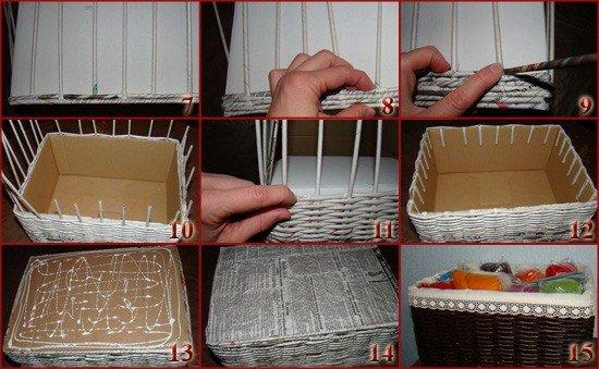 Как сделать своими руками красивую корзину 30