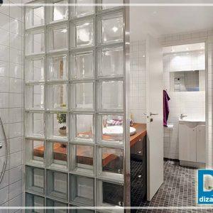 Скло для ванної кімнати і скляні цеглини (блоки) в інтер'єрі