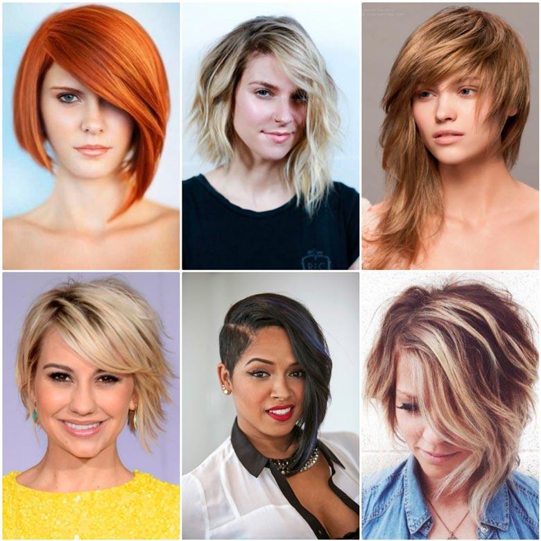 Ассиметричные стрижки волосы 2017-2018