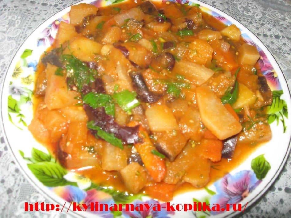 Рагу из капусты и баклажанов рецепт