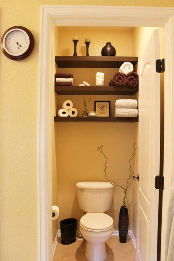 Интерьер в туалете своими руками 63