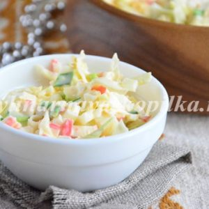 Салат з крабових паличок: рецепт з фото дуже смачний