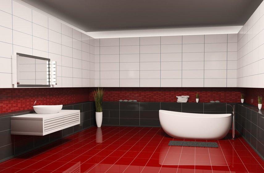 Gray bathroom tile