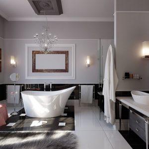 Сучасний дизайн ванної кімнати, фото інтер'єрів модерн