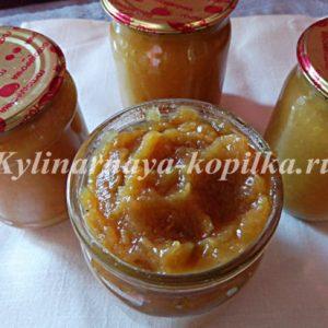 Яблучне пюре на зиму в домашніх умовах