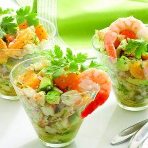 Салати з креветками: рецепти з фото прості і смачні