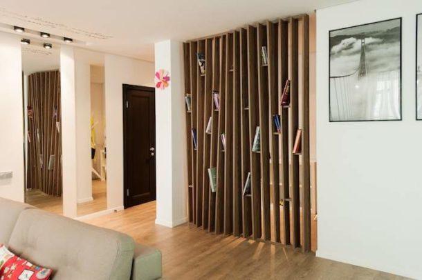 Деревянная перегородка для комнаты своими руками 698