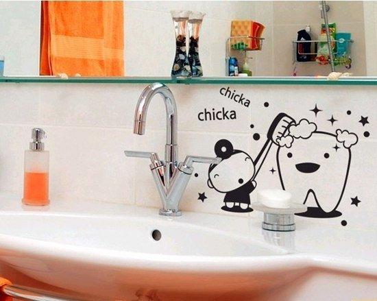 Нарисовать в ванной своими руками 56