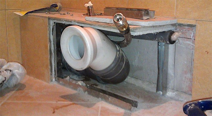 Как сделать трубу для ванной 407