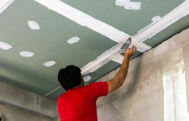 Как выровнять потолок в частном доме своими руками 77