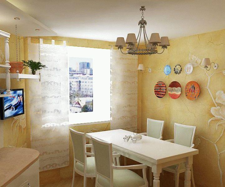 Интерьер кухни с декоративной штукатуркой фото