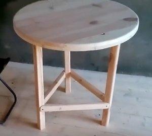 Как сделать стол на одной ножке своими руками8