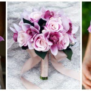 Весільний букет з орхідей: розкішні ідеї та фото