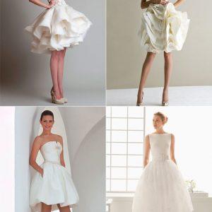 Короткі весільні сукні: 35 фото, ідеї образу
