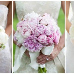 Весільний букет півоній: фото та ідеї оформлення