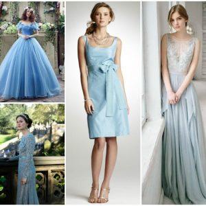 Блакитне весільну сукню: фото і рекомендації по вибору