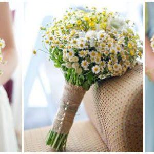 Весільний букет з польових квітів: фото та ідеї