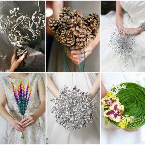 Незвичайні весільні букети: фото та ідеї
