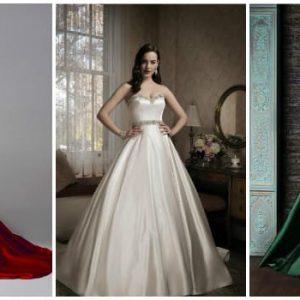 Атласна весільна сукня: як вибрати фасон і аксесуари